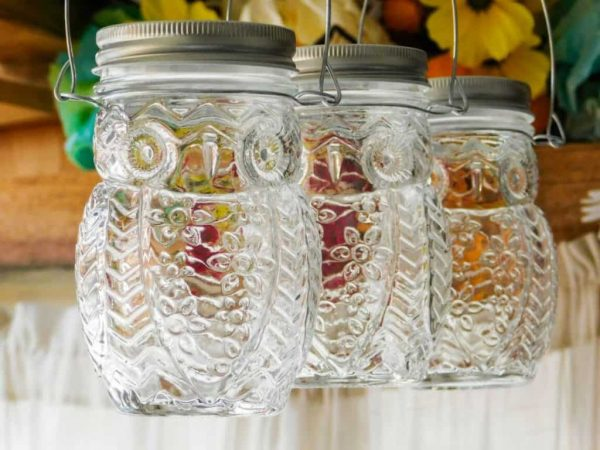 hanging owl jars